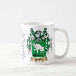 Hanley, the Origin, the Meaning and the Crest Coffee Mug