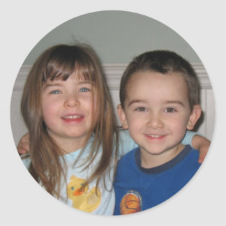 Hannah and Caleb (together) Round Sticker