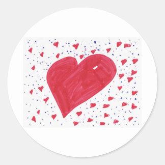 hannah-heart round sticker