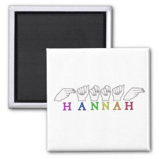 HANNAH NAME ASL FINGERSPELLED SIGN MAGNET