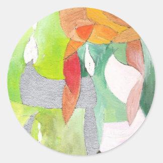 Hannah Round Sticker