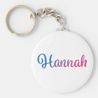 Hannah Stylish Cursive Keychain