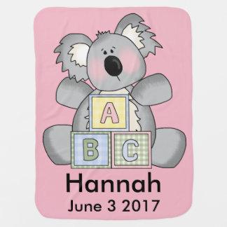 Hannah's Personalized Koala Baby Blanket
