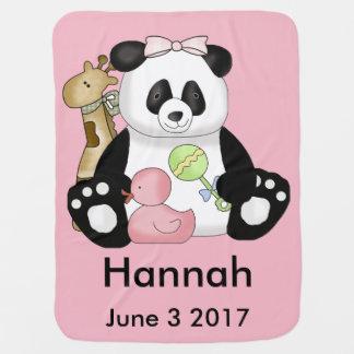 Hannah's Personalized Panda Baby Blanket