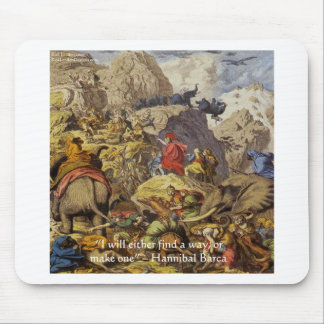 Hannibal Barca & Army & Quote Gifts & Cards Mouse Pad