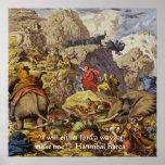 Hannibal Barca In Alps W/Wisdom Quote Poster