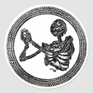 Hannibal Church Floor Skeleton Sticker
