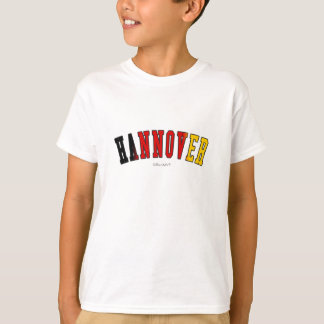 Hannover in Germany national flag colors T-Shirt