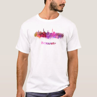 Hannover skyline in watercolor T-Shirt