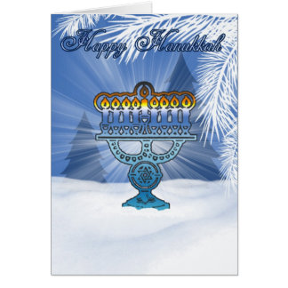 hannukah card winter scenery