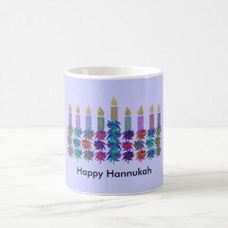 Hannukah Flower Menorah Coffee Mug