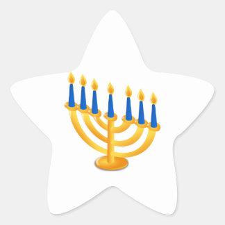 Hannukah Menorah Star Stickers