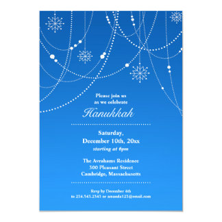 Hannukah Party Flat Invitation
