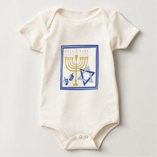 Hannukah Symbols Baby Bodysuit