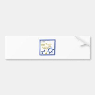 Hannukah Symbols Bumper Sticker