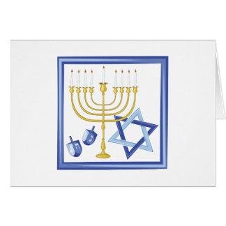 Hannukah Symbols Card