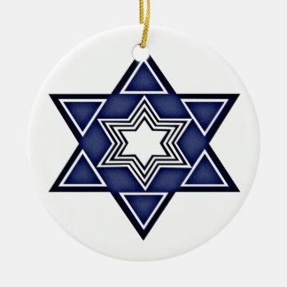 Hannukkah Star of David Ceramic Ornament