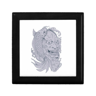 Hannya Mask and Koi Fish Drawing Gift Box