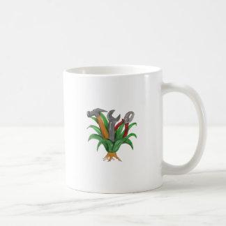 Hannya Mask Koi Fish Cascading Water Tattoo Coffee Mug