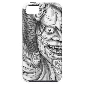 Hannya Mask Koi Fish Cascading Water Tattoo iPhone 5 Cases