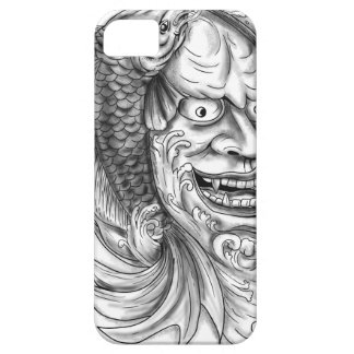 Hannya Mask Koi Fish Cascading Water Tattoo iPhone 5 Covers