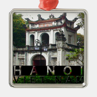 Hanoi Silver-Colored Square Ornament