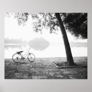 Hanoi Vietnam, Bicycle & Bay Mau Lake Lenin Park Poster