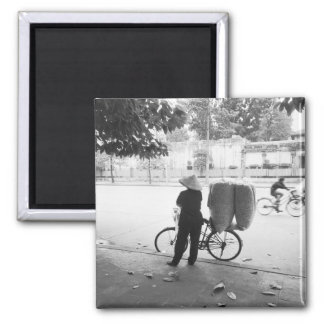 Hanoi Vietnam, Bicyle Delivery Woman (NR) Magnet