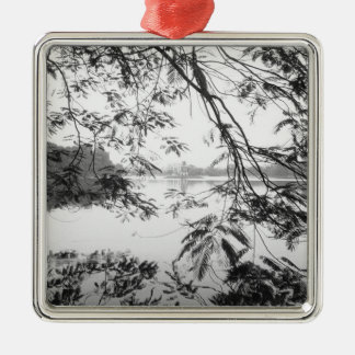 Hanoi Vietnam, Hoan Kiem Lake View Metal Ornament