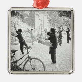 Hanoi Vietnam, Morning Excercises by Hoan Kiem Metal Ornament