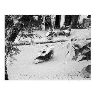 Hanoï Vietnam, motocyclette à vieux Hanoï Carte Postale