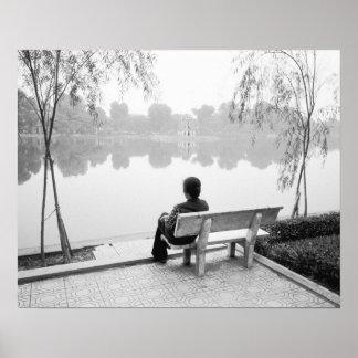 Hanoi Vietnam, View of Hoan Kiem Lake (NR) Poster