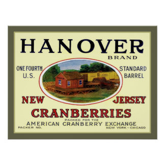 Hanover Cranberries Vintage Advert Print