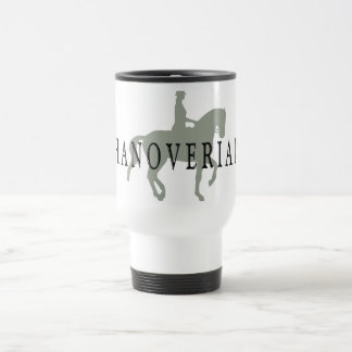 HANOVERIAN with Dressage Horse & Rider 15 Oz Stainless Steel Travel Mug