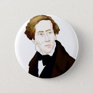 Hans Christian Andersen 2 Inch Round Button