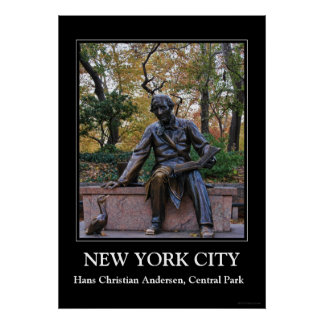 Hans Christian Andersen, Central Park, NYC Poster