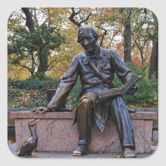 Hans Christian Andersen, Central Park, NYC Square Sticker