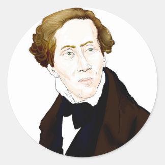 Hans Christian Andersen Classic Round Sticker