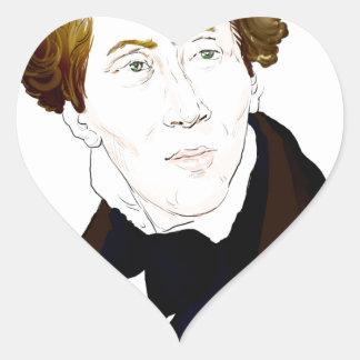 Hans Christian Andersen Heart Sticker
