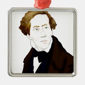 Hans Christian Andersen Metal Ornament