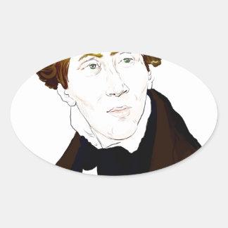 Hans Christian Andersen Oval Sticker