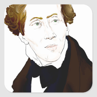 Hans Christian Andersen Square Sticker