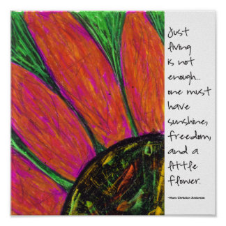 Hans Christian Anderson Quote Poster