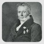Hans Christian Orsted, engraved by Kaufmann Square Sticker
