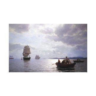 Hans Frederik Gude The Oslo Fjord Canvas Print