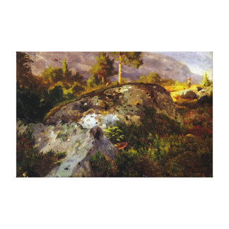 Hans Gude Landscape Study from Vågå Canvas Print