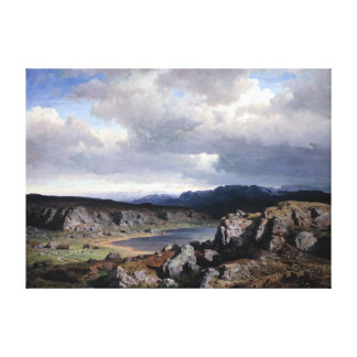 Hans Gude Norwegian Highlands Canvas Print