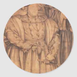 Hans Holbein- Henry VIII and Henry VII Classic Round Sticker