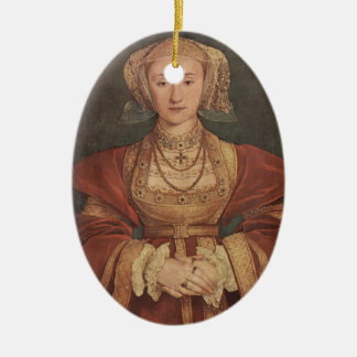 Hans Holbein- Portrait of Anne of Cleves Ceramic Ornament