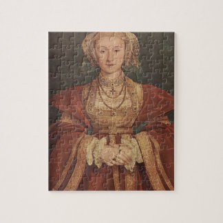 Hans Holbein- Portrait of Anne of Cleves Jigsaw Puzzle